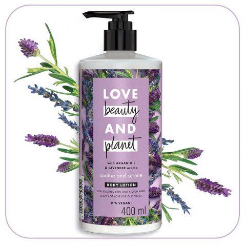 kem dưỡng thể Love Beauty And Planet Argan Oil & Lavender
