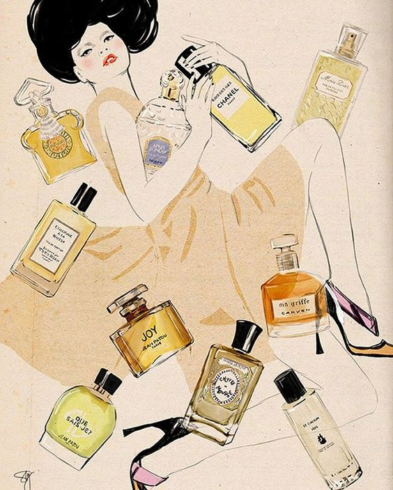 Gorgeous perfume illustration#hair #love  #style  #beautiful  #Makeup #SkinCare #Nails #beauty #eyemakeup #style #eyes #model #MakeupMafia #NaturalBeauty #OrganicBeauty