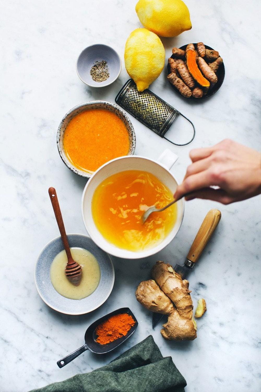 Kết quả hình ảnh cho ginger turmeric honey bomb