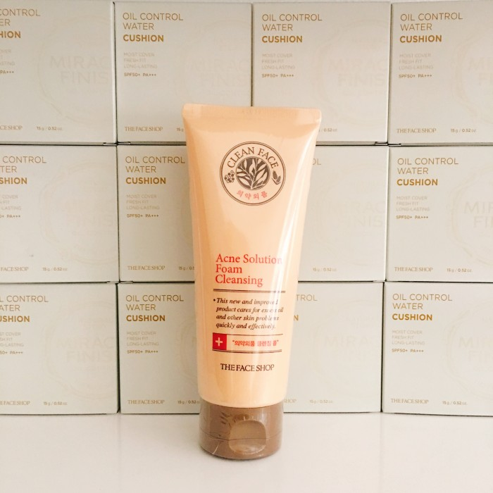 Kết quả hình ảnh cho The Face Shop Clean Face Acne Solution Foam Cleansing