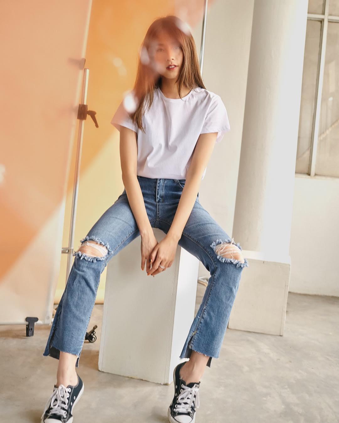 quần jean áo thun đẹp