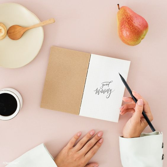 Woman writing a diary mockup   premium image by rawpixel.com / KUTTHALEEYO