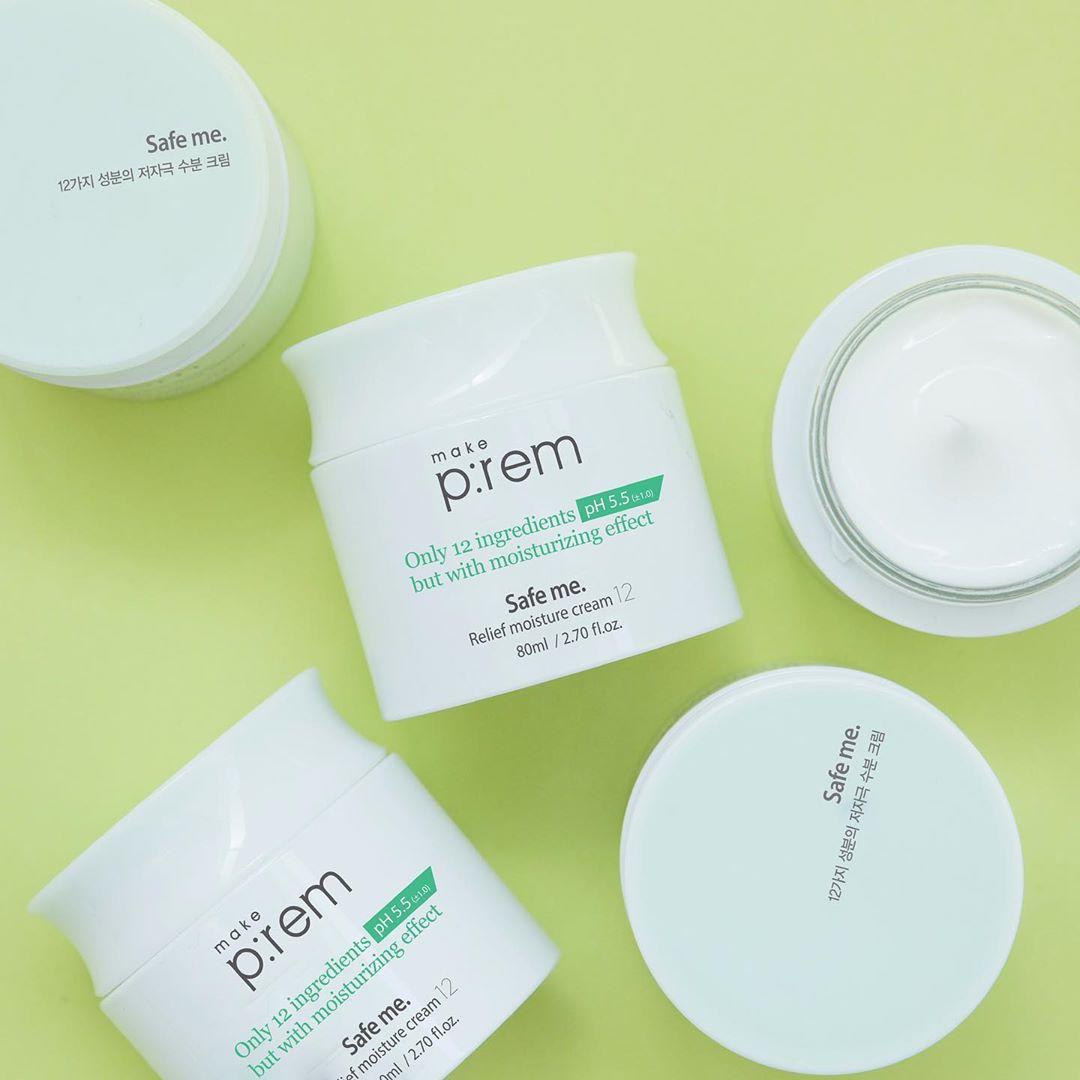 Kem dưỡng ẩm mùa hanh khô Make P:rem Safe Me Relief Moisture Cream
