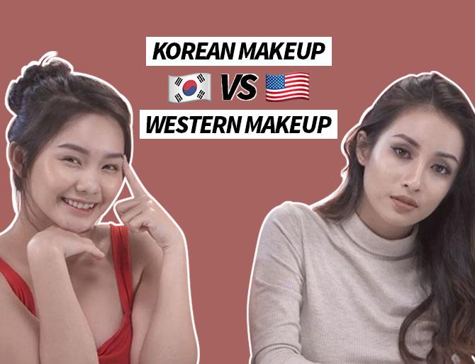 Tráo Đổi Túi Makeup –  MAKEUP KIỂU HÀN vs MAKEUP KIỂU TÂY | THỬ THÁCH ĐẸP