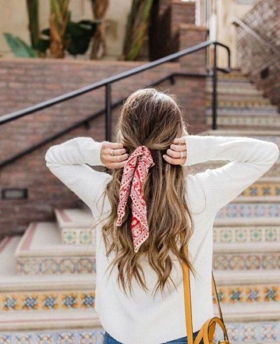 Bandanas y pa�uelos para el cabello  #bandana #pa�uelos #hairstyle #summer