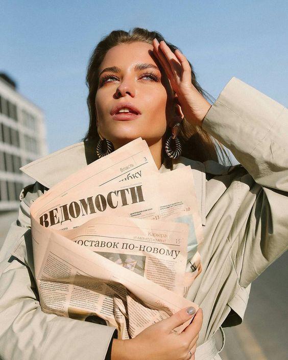 Nikki shik ?  #newspaper #fashion #lady #coat