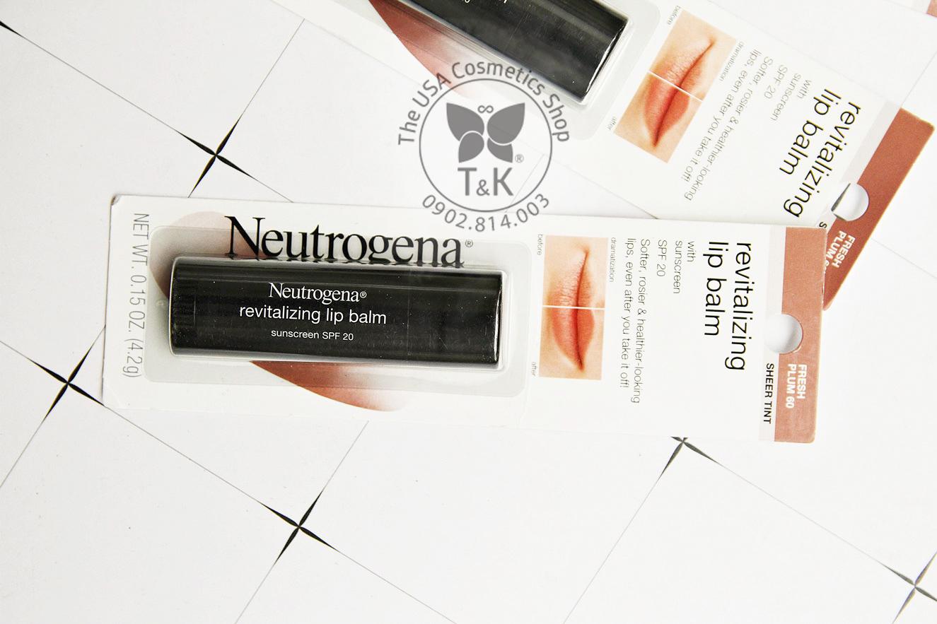Kết quả hình ảnh cho Neutrogena Revitalizing Lip Balm in Fresh Plum