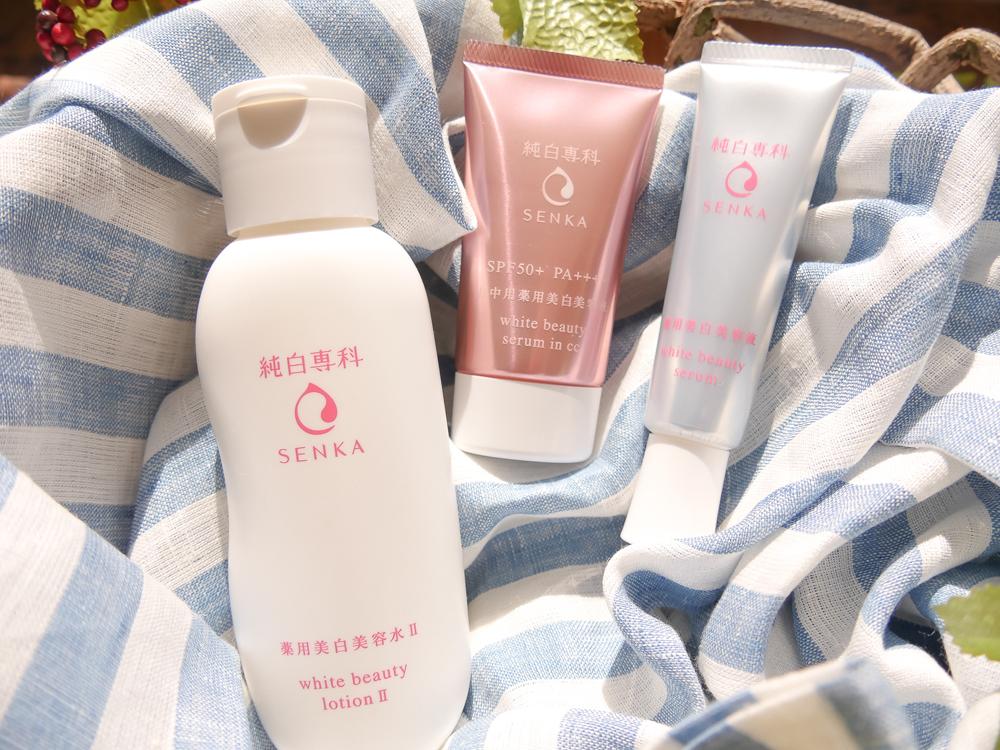 Kết quả hình ảnh cho Senka White Beauty CC Serum
