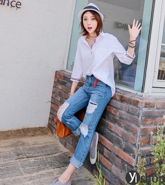 Image result for Áo sơ mi oversize Quần skinny jean