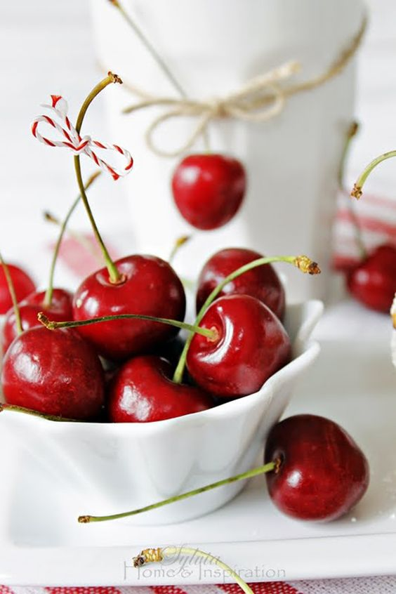 summer cherries in a bowl