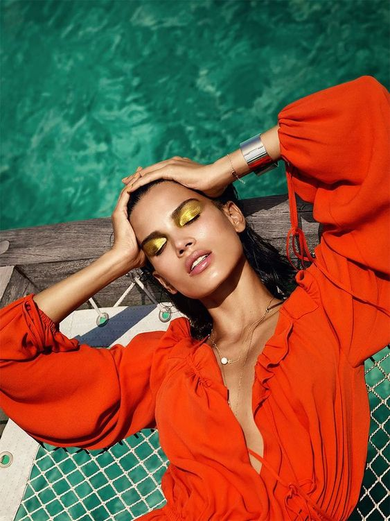 "Shot by photographer Luis Monteiro and retouched by Rob Dewey, ""Orange Crush"" is a fashion editorial produced for VOGUE India. The series is about ""strong colours, shape, and natural beauty; deep blue sky and turquoise waters contrasted harmoniously with bold reds and oranges, and bronzed skin"". More fashion photography via Behance"