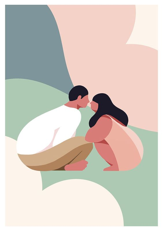 Illustration : COUPLE par Minkyung Lee | Creasenso | Creasenso, Creative Talent Management