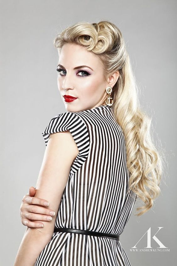 """""""Despite vintage most of the celebrities nowadays have been seen wearing retro hairstyles on the glamorous red carpet appearance. The most remarkable feature of a retro hairstyle it's that, no matter its vintage look it's still a style in that trends in 2016. A retro hairstyle when done well and matched with the right clothes it emerges as one of the best unique hairstyles.#hairstraightenerbeauty #RetroHairstyles #RetroHairstylesforlonghair #RetroHairstylesshort #RetroHairstylesmedium"""