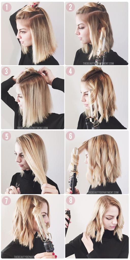tóc ngắn uốn sóng
