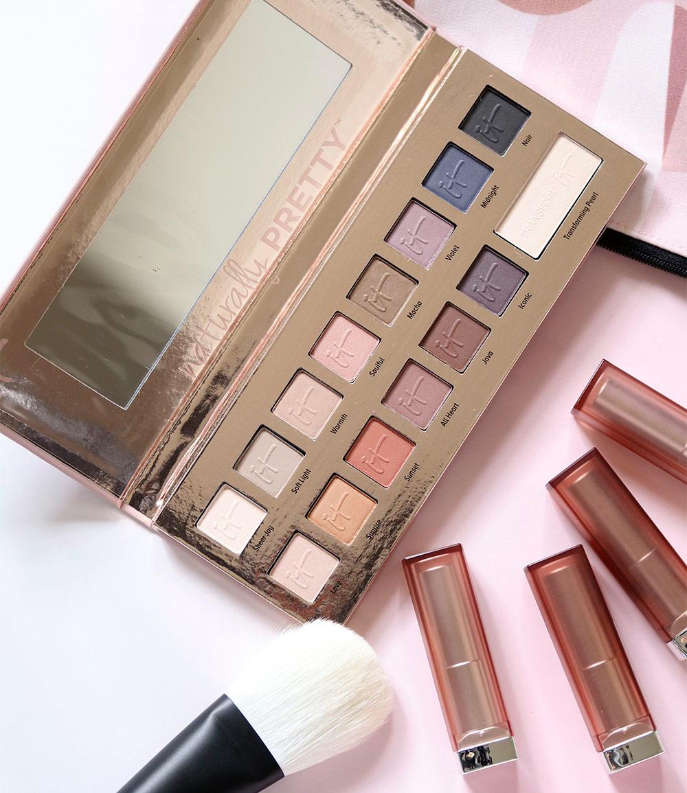 Kết quả hình ảnh cho It Cosmetics Naturally Pretty Vol 1 Matte Luxe Transforming Eyeshadow Palette