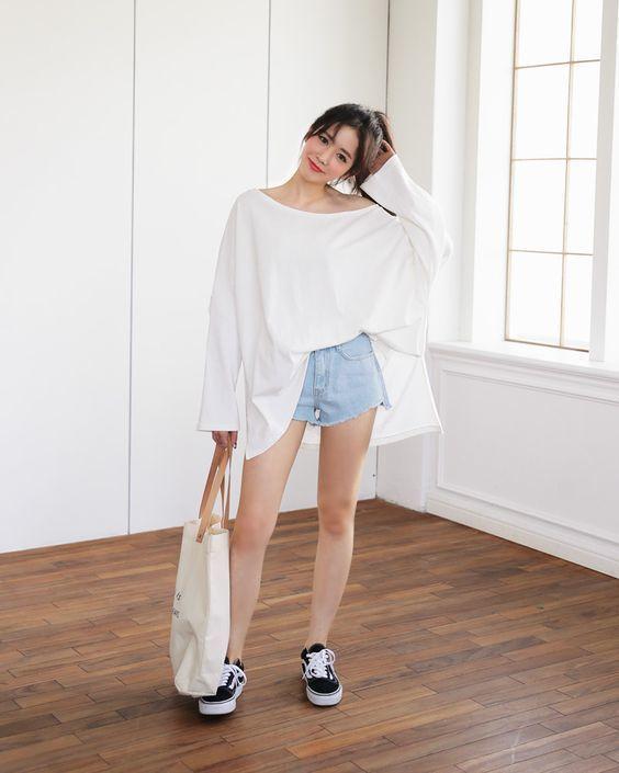Image result for Áo phông oversize quần short