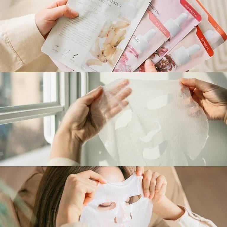 Kết quả hình ảnh cho mặt nạ mamonde flower lab essence mask