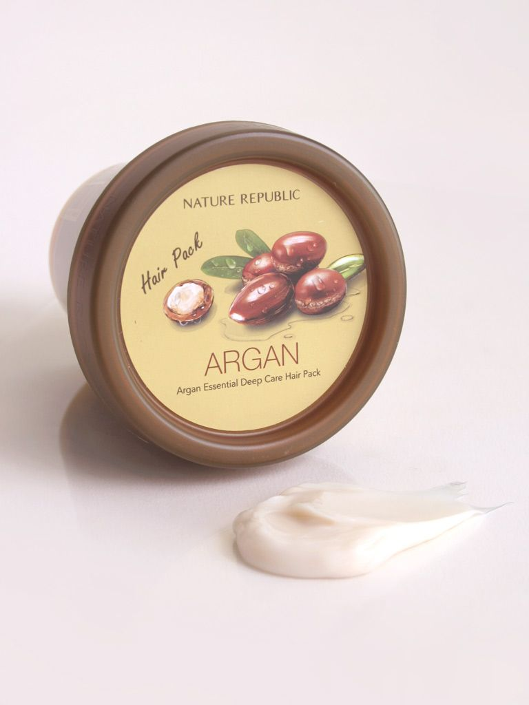 Image result for Nature Republic Argan Essential Deep Care Hair Pack