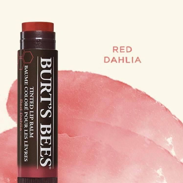 Kết quả hình ảnh cho Burt's Bees Tinted Lip Balm in Red Dahlia