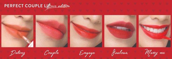 Kết quả hình ảnh cho Perfect Couple Lip Love Edition