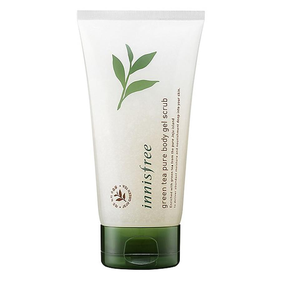 Image result for Innisfree Green Tea Pure Body Gel Scrub tẩy tế bào chết