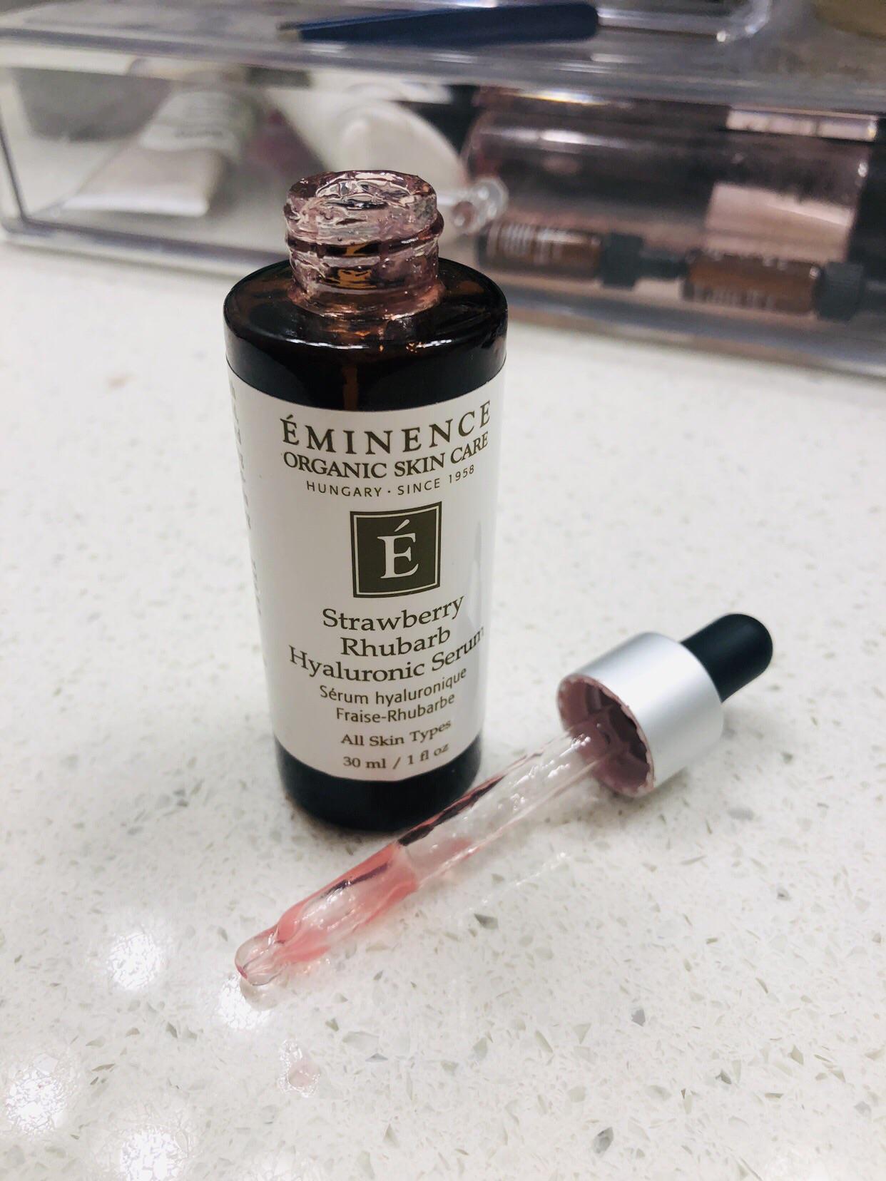 Kết quả hình ảnh cho Eminence Strawberry Rhubarb Hyaluronic Serum