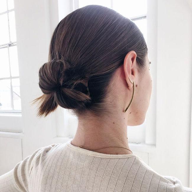 kiểu búi cho tóc ngắn