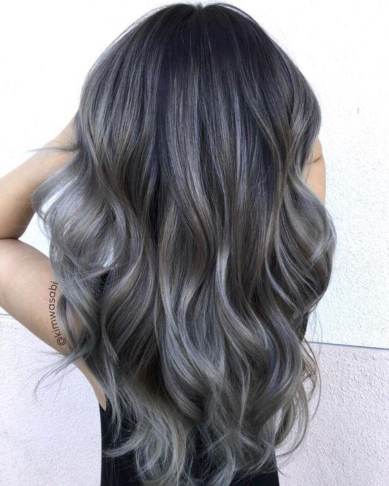 Màu tóc than chì