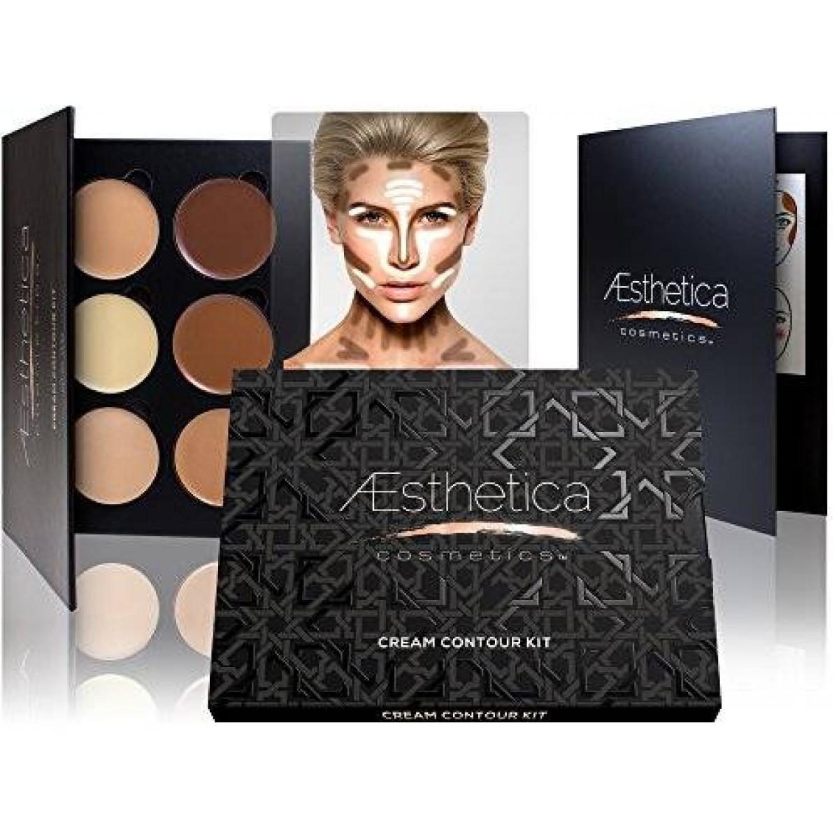 Kết quả hình ảnh cho Aesthetica Cosmetics Cream Contour Kit