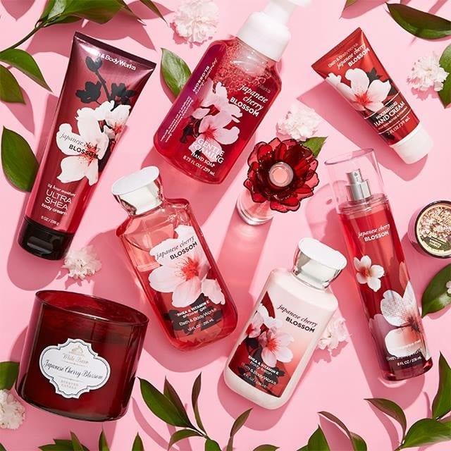 Kết quả hình ảnh cho Bath & Body Works Japanese Cherry Blossom Shower Gel