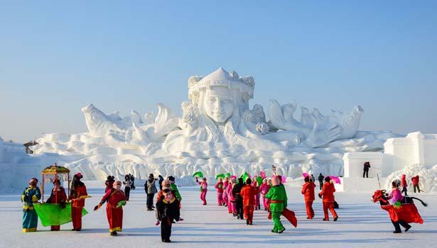Kết quả hình ảnh cho Cáp Nhĩ Tân snow