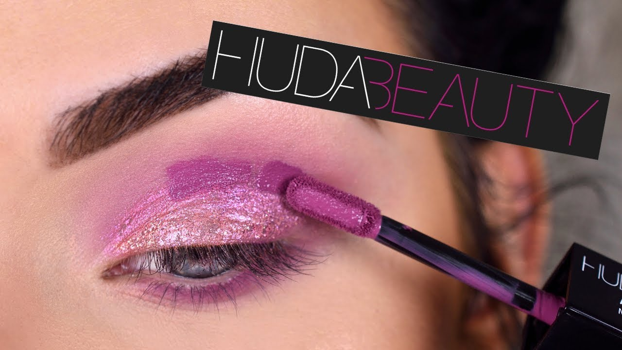 Kết quả hình ảnh cho Huda Beauty Double-Ended Liquid Eyeshadow in Purple