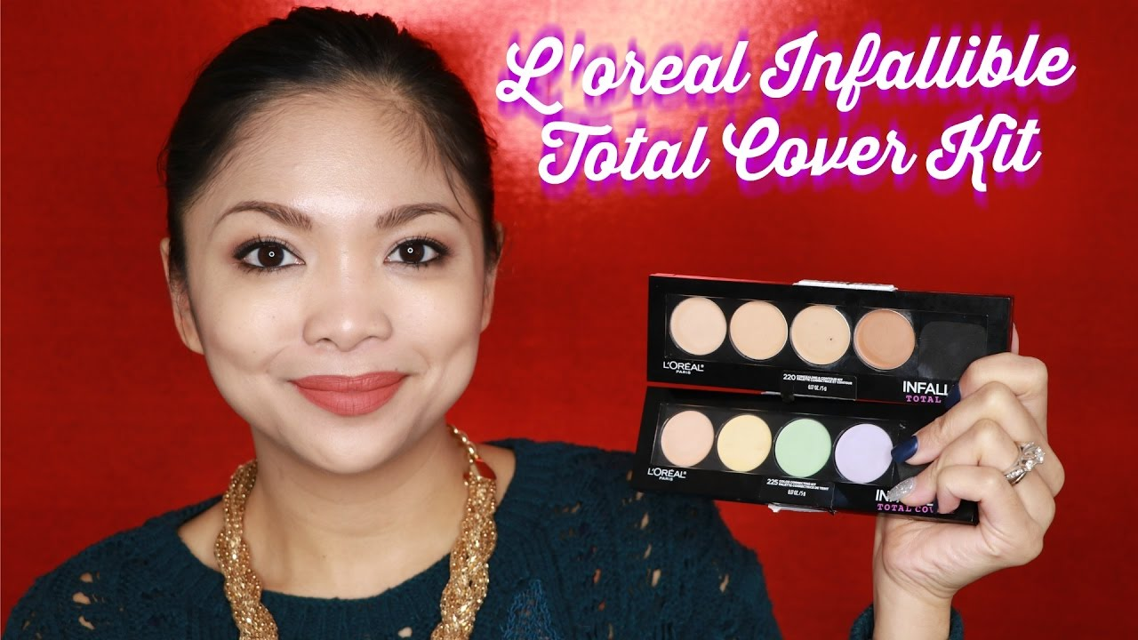 Kết quả hình ảnh cho L'Oréal Infallible Total Cover Concealing and Contour Kit