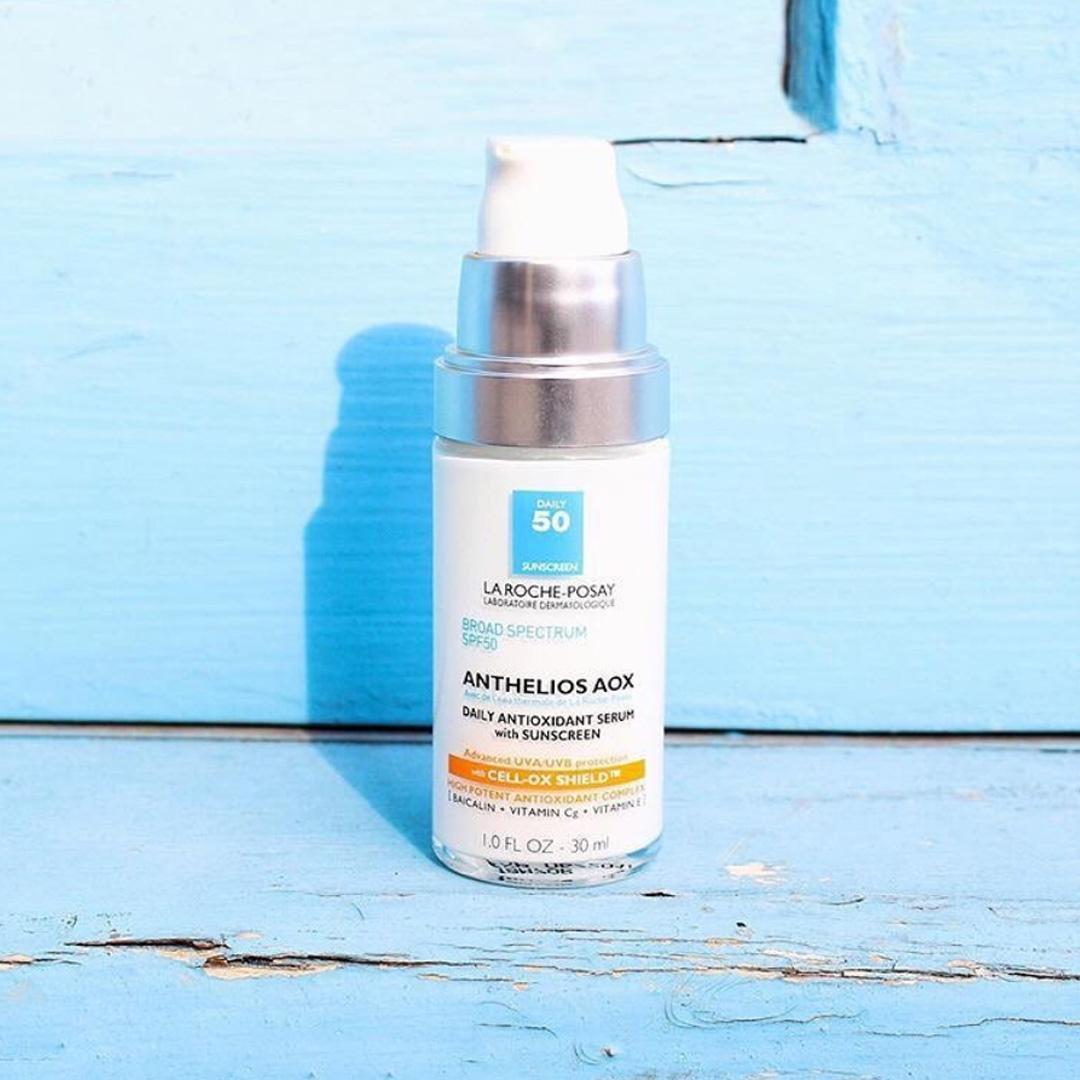 Kết quả hình ảnh cho La Roche-Posay Anthelios AOX Daily Antioxidant Serum with Sunscreen SPF 50