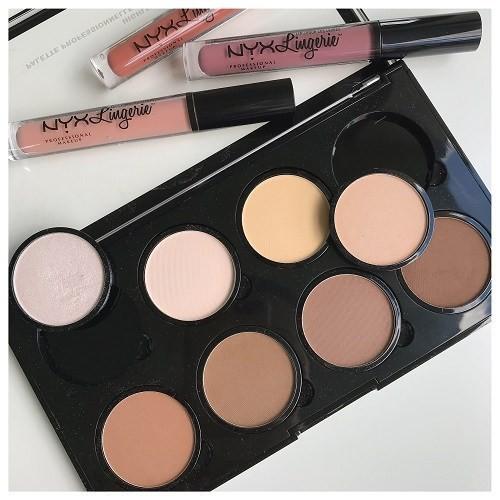 Kết quả hình ảnh cho NYX Professional Makeup Highlight và Contour Pro Palette