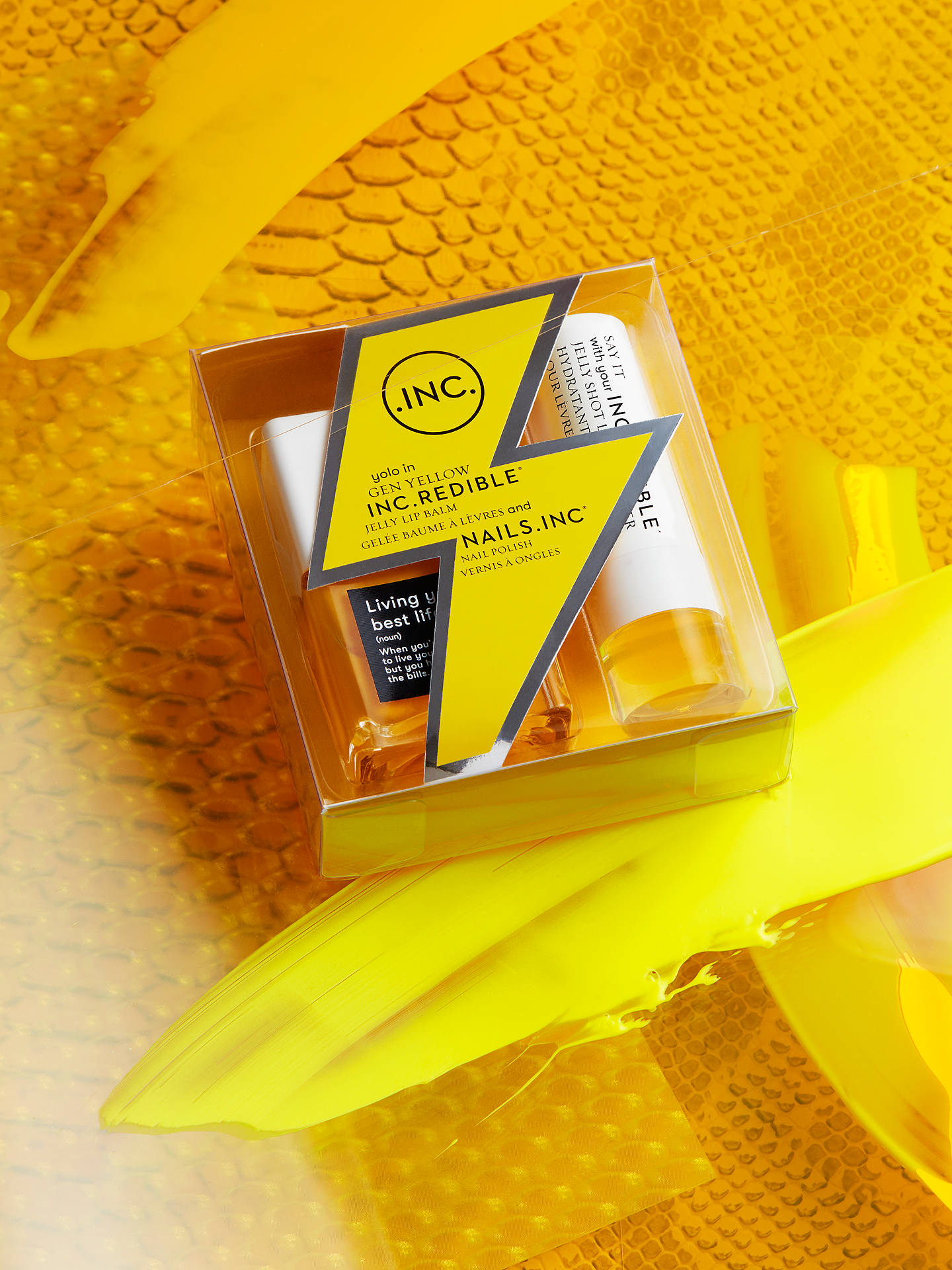 Kết quả hình ảnh cho Nails Inc. Gen Yellow Nail Polish and Lip Balm Duo Set