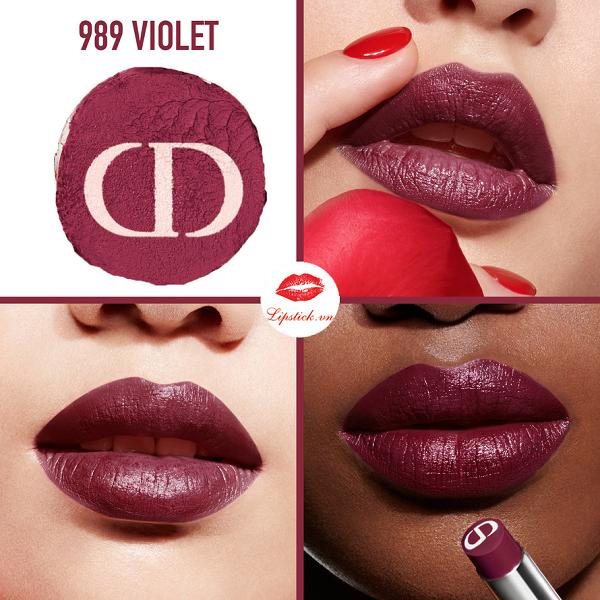 Son Màu Trầm Rouge Dior Ultra Care màu 989 Violet