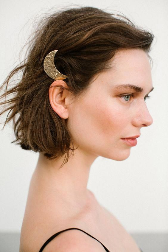 LANI HAIR COMB from 190.00 Channelling the magic of the Crescent moon with the Lani hair comb.Handmade in the studio using a special wave technique that symbolizes the moon surface. #shorthairstylesforthickhair