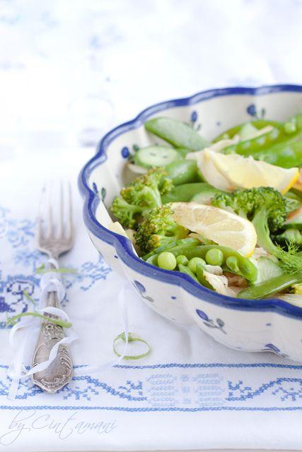 Peapods, Brocolli, Avocado & Fennel Salad - by Cintamani