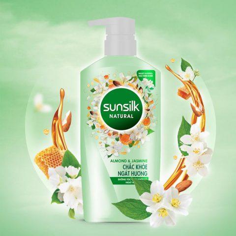 Dầu gội Sunsilk Natural Almond and Jasmine có gì hot mà dân tình yêu thích đến thế?
