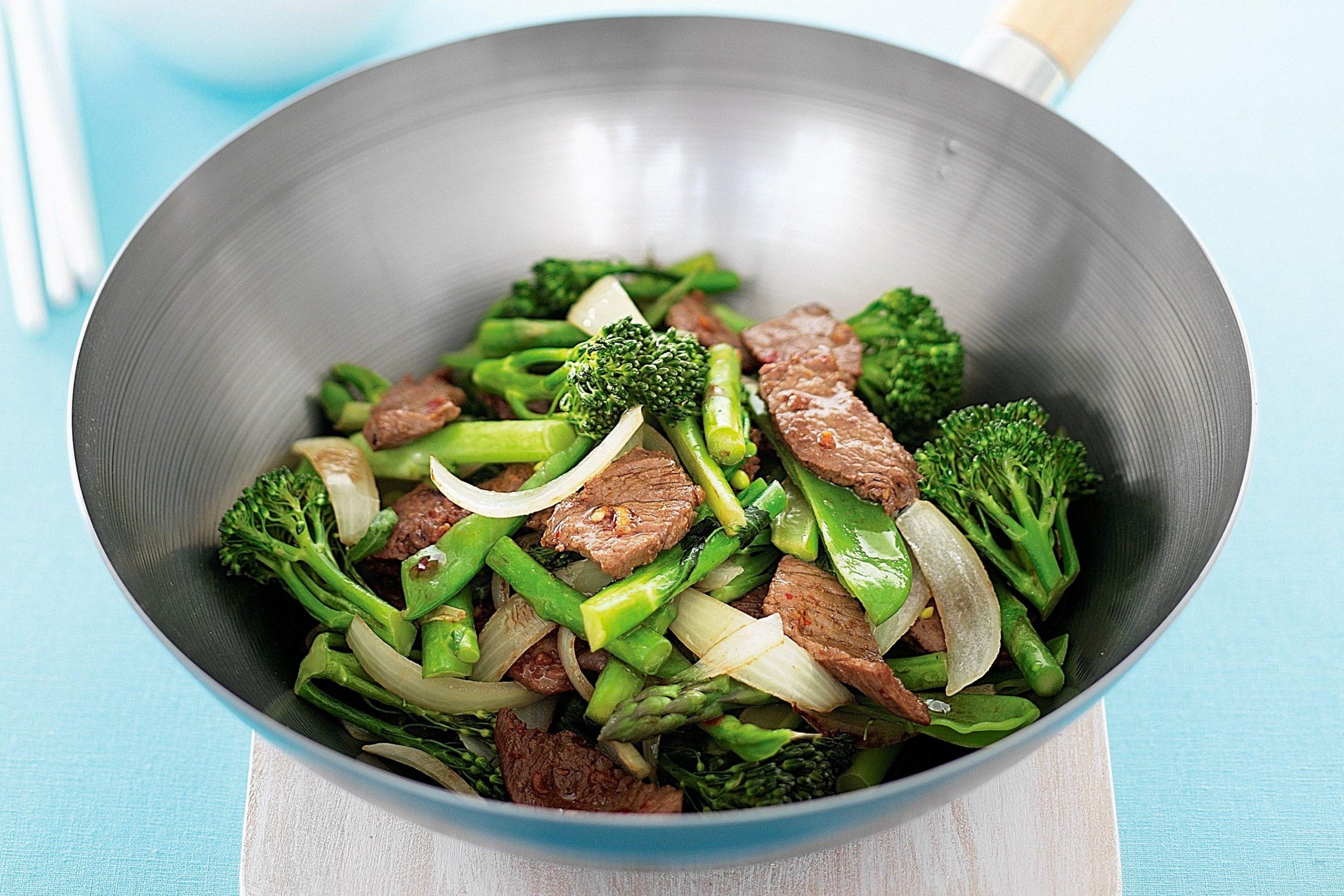 rau củ xào thịt bò