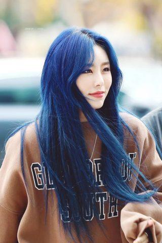 tóc nhuộm xanh tại nhà