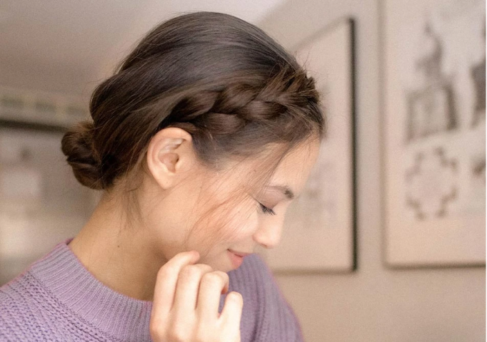 làm kiểu tóc đơn giản