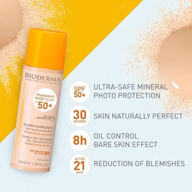Kem chống nắng có màu cho da dầu Bioderma Nude Touch