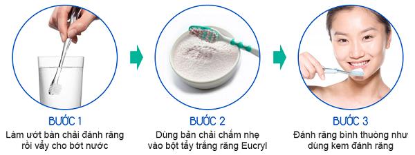 Hướng dẫn sử dụng bột tẩy trắng răng Eucryl