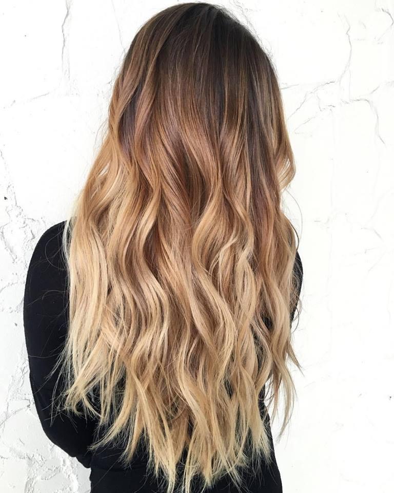 tóc màu nâu lạnh ombre