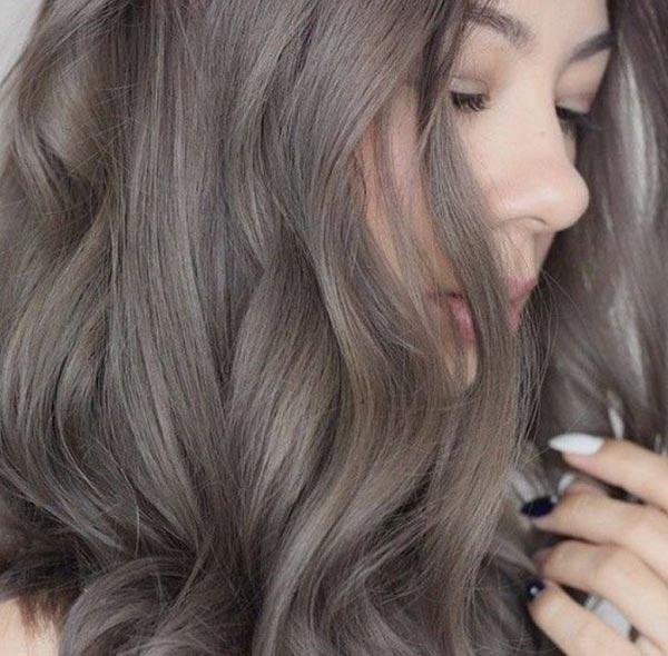 tóc màu nâu khói trầm