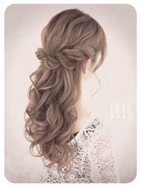 Tết tóc xoăn uốn đuôi dài