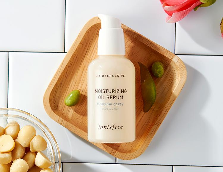 Tinh dầu dưỡng tóc uốn Innisfree My hair Recipe Moisturizing Oil Serum For dry Hair