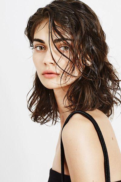 wet hair look